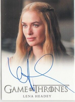 Game Of Thrones Season 4 - Lena Headey (Cersei Lannister) Autograph Card El