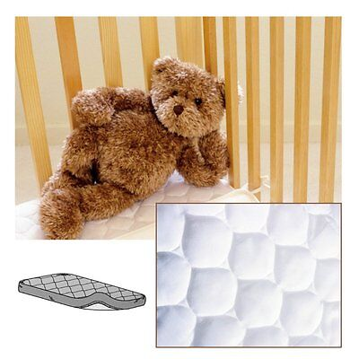 American Baby Quilted Waterproof Cradle Mattress Pad, White / Cream
