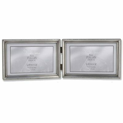 LAWRENCE FRAMES Antique Pewter Double Hinged 3.5 x 5 Picture Frame ...