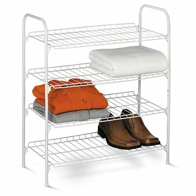 Honey Can Do 4 Tier Wire Shoe and Accessory Shelf/Closet Shelves