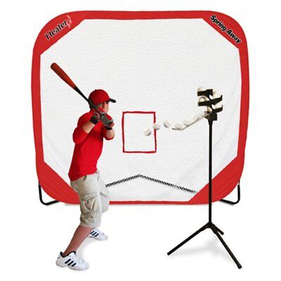Heater Sports Big League Soft Toss Pro & Spring Away Pro 7x7 Pop-Up Net, Black