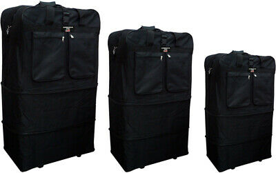 "30""/36""/40"", Expandable Rolling Duffel Bag Wheeled Spinner Suitcase Luggage"