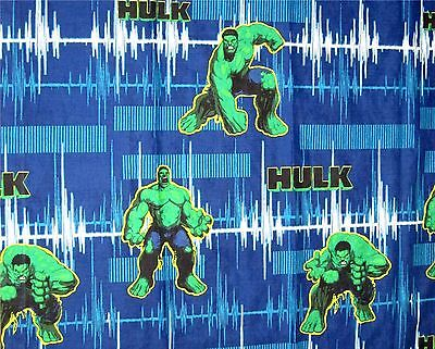 "Set of 2 The Hulk Green Blue Window Curtain  Marvel Comics Fabric 42"" x 63"""