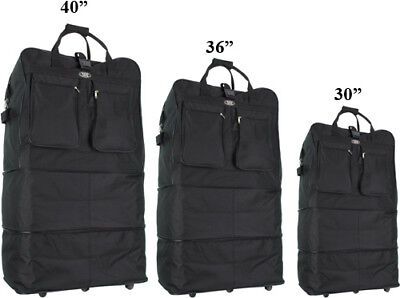 "30""/36""/40"" Expandable Duffel Bag  Rolling Wheeled Spinner Suitcase Luggage"