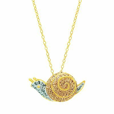 Crystaluxe Snail Pendant with Swarovski Crystals in 18K Gold-Plated S. Silver