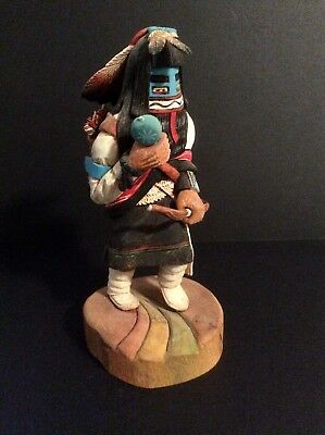 Contemporary Hopi Heoto Kachina Doll / Carving - a lot of Detail!