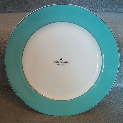 Kate Spade by Lenox Rutherford Circle Turquoise Dinner Plates Set/4 NWT China