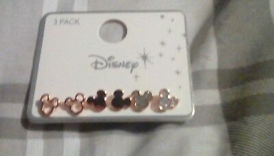 Primark Disney Mickey Earring Set New Pink Rose Gold New