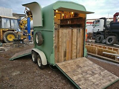 Horse Box Horsebox Trailer Conversion Mobile Coffee Gin Prosecco Bar Sold