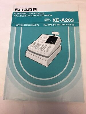 Sharp XE-A203 Electronic Cash Register Manual Only
