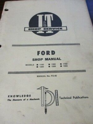 Ford 1100-1200-1300-1500-1700-1900 Tractors I&T Shop Service Manual 1983