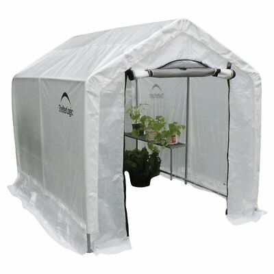 Peak Backyard Greenhouse with Integrated Shelving, Translucent, 8