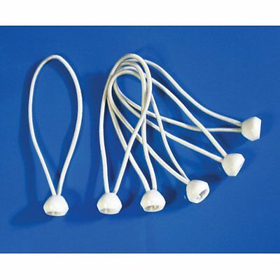 """9/"""" WHITE HEAVY DUTY PREMIUM BALL BUNGEE BUNGEES  100pc lot ** Free Shipping **"""