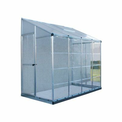 Palram Hybrid Lean-To 4 x 8 ft. Greenhouse, Silver, 4' x 8'