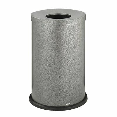 Safco Speckle Round Open Top Receptacles, Black