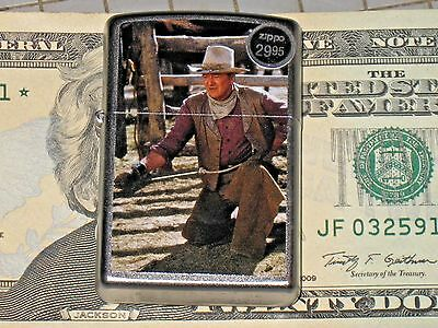 New Windproof ZIPPO USA LIGHTER JW Cowboys John Wayne Hero carbine West Ranch US