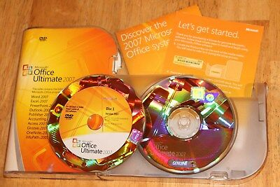 Microsoft Office Ultimate 2007 76H-00325 Word Excel Access Outlook Powerpoint