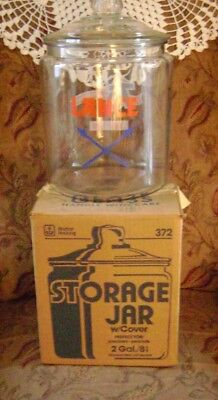 Large 2 Gallon Lance 75Th Anniversary Glass Jar/lid By Anchor Hocking Perfect