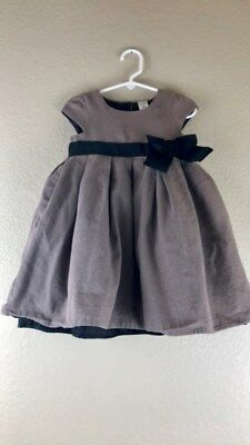 Carters Toddler Girls Sleeveless Light Brown Sparkly HolidayDress Size 3t