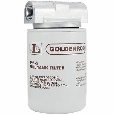 """GOLDENROD (595-3/4) Canister Fuel Tank Filter with 3/4"""" NPT Top Cap"""