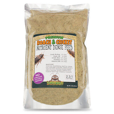Premium Roach Chow for Dubia & Crickets - Super Foods - Ca:P Balanced - 1.5 lbs