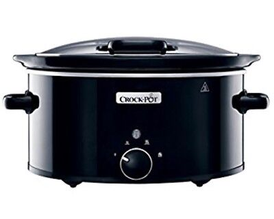 Crock-Pot CSC031 Black 5.7 Litre Hinged Lid Slow Cooker