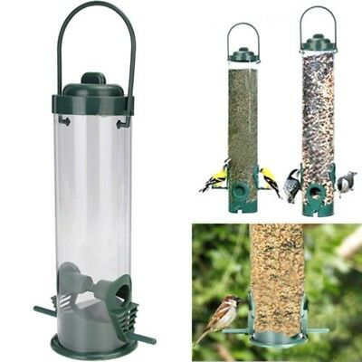 Hanging Wild Bird Seed Feeder Holder Hanger Perch Squirrel Peanut Garden Feeding