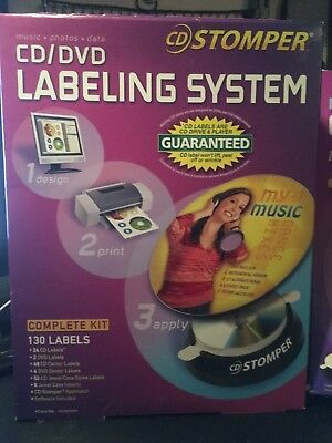 Stomper CD Labeler and Box of extra labels