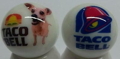 Up4Bid Very Nice Set of 2 Taco Bell Glass Marbles