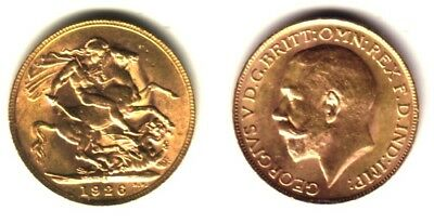 Australia Gold Sovereign STUNNING UNC PRE WW-2  1926 SOUTH AFRICA--KING GEORGE 5