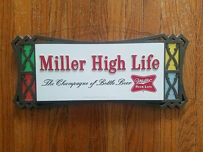Vintage Miller High Life Advertising Bar Sign