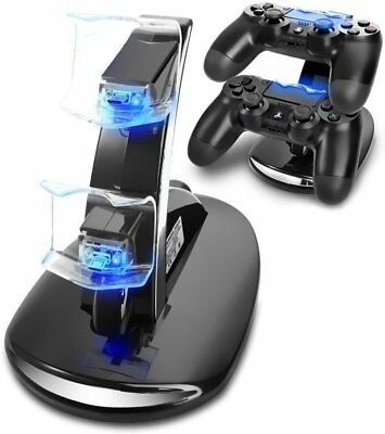 PlayStation PS4 Dual Controller LED Charger Dock Station USB Fast Charging Stand
