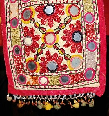 Beautiful  Decoration of Mirrored Embroidered Textile from Gujurat India