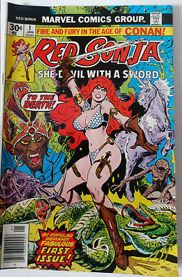 Red Sonja #1 (Jan 1977, Marvel)