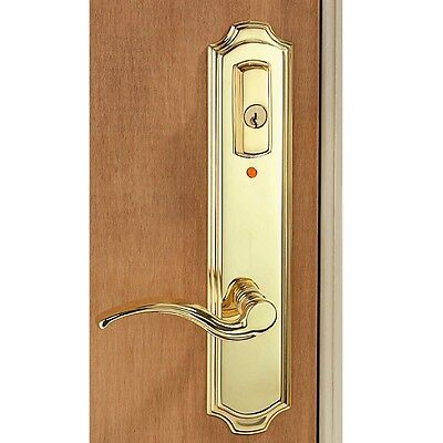 Solid Brass Mortise Entry Door Lock Lever Handle With Alarm | Renovator's Supply