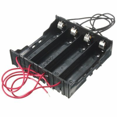 USA Plastic Battery Holder Storage Box Case For 4x 18650 Rechargeable Battery