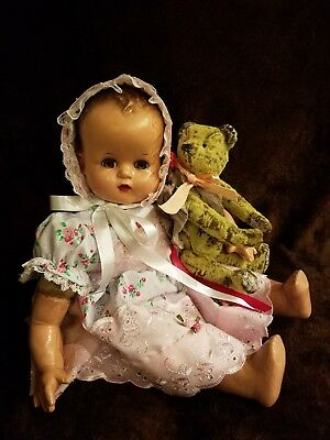"""Antique Vtge IDEAL BABY BEAUTIFUL SERIES 19"""" Composition/cloth Doll NEW OUTFIT"""