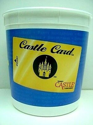 (President) TRUMP CASTLE CASINO Atlantic City...LARGE Plastic Coin Cup VINTAGE