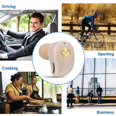 Invisible Wireless Bluetooth Earbud Stereo Earphone Built-in Mic,Noise Cancellin