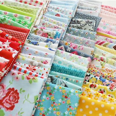 200pcs DIY Craft Sewing Square Floral Cotton Fabric Patchwork Random design