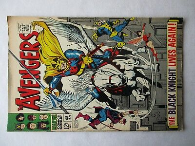 Marvel Comics AVENGERS #48 First Silver Age Black Knight
