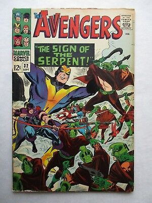Marvel Comics AVENGERS #32 First Appearance Bill Foster Black Goliath 1966