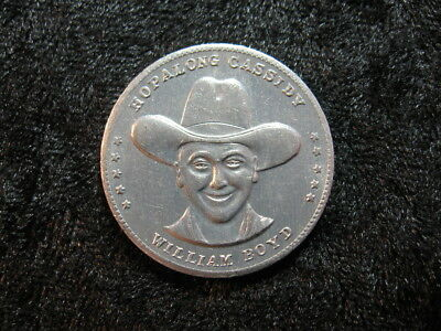 "1 old Good Luck token coin ""Hoppy"" Hopalong Cassidy William Boyd FREE S&H"