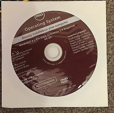 Windows 8.1 Professional 64bit Recovery DVD new ( OEM Activation 3.0 )