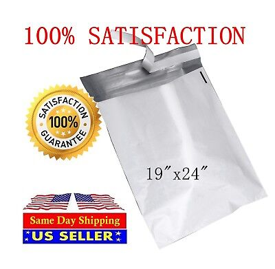 100 - 19x24 WHITE POLY MAILERS ENVELOPES BAGS 19 x 24