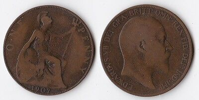 1907 Great Britain 1 penny coin