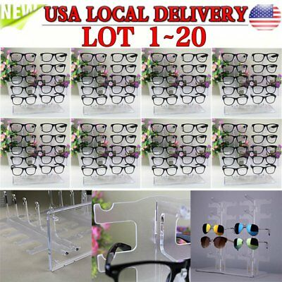 Acrylic Clear Display Retail Show Stand Holder Rack For Glasses Sunglasses LOT X