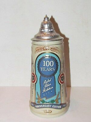 1993 Pabst 100 Year Anniversary Beer Stein Limited Edition No 0762