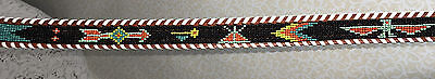 Vintage Leather Belt Beaded South Western Cowgirl Cowboy Hippie Chic Retro 70s