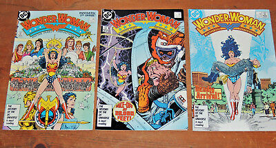 Wonder Woman #1 (1987) Wraparound cover George Perez art + issues #2 & #3
